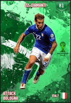 #Diamanti Italy FIFA World Cup 2014 Lineup