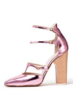 Chloé spring 2013 shoes metallic pink pastels