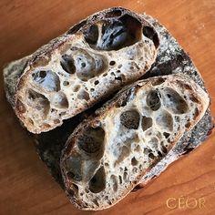 """Hand mixed sourdough ciabatta. 17.5% hard red, 15% Spelt, 2.5% rye (all fresh milled), 65% abc…"""