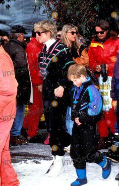 Princess Diana, Prince Photo - Princess Diana and Prince Henry Lech, Austria Photo: Dave Chancellor-alpha-Globe Photos Inc 1993
