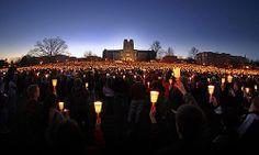 Candlelight Vigil on Virginia Tech Drill Field