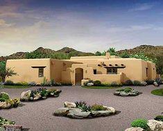 Plan W81394W: Southwest House Plans & Home Designs