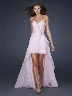 Pearl Pink Chiffon Abiti da Cerimonia in Cuore http://www.belloabito.com/pearl-pink-chiffon-abiti-da-cerimonia-in-cuore-p-5543