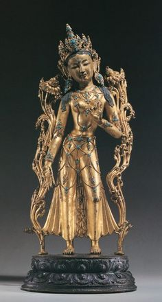 Indian Art, Tibet, Deities, Buddha, Objects, Bronze, Asian, Sculpture, Statue