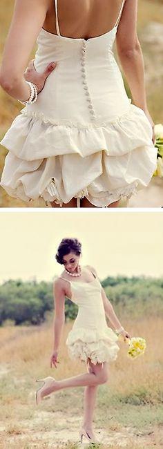 morgan boszilkov wedding gown.  adore short wedding dresses!