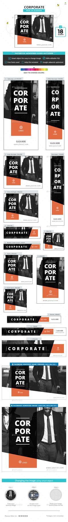 Corporate Web Banners Template PSD