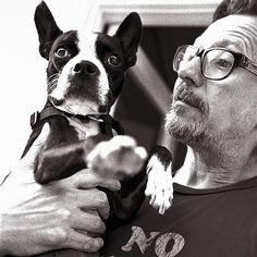 Boston Terrier Love, Boston Terriers, Famous Dogs, Famous People, Terrier Breeds, Terrier Dogs, Terrier Mix, Gary Oldman, Mans Best Friend