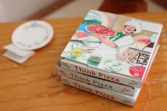 Miniature Pizza Box Template to Download by Simply Stella