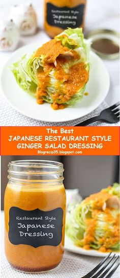 My BEST #Recipes >> JAPANESE RESTAURANT STYLE GINGER SALAD DRESSING - ~12~ #Blog #recipes