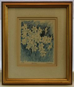 Vintage Limited Edition Print 'Narcissi' by by SpearmintGallery