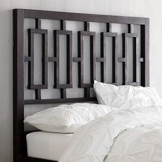 Window Headboard - Chocolate #westelm