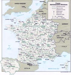 Image detail for -Map of France departments - France map with departments and regions