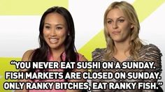 "Haha YASSSS On sushi: | Community Post: 12 Gems Of Truth From The ""Rich Kids Of Beverly Hills"""