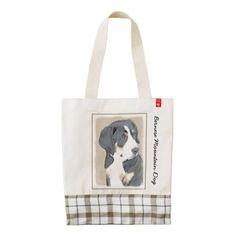 #Bernese Mountain Dog Puppy Zazzle HEART Tote Bag - #bernese #mountain #dog #puppy #dog #dogs #pet #pets #cute #bernesemountaindog
