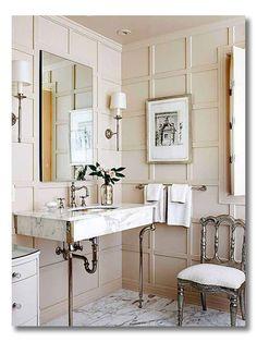 Blush powder room