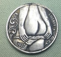 Full moon. Nice backside of a gal, fantasy coin hobo nickel beautiful looking.