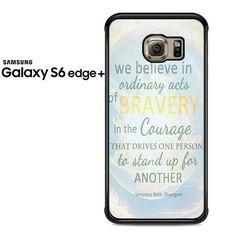 Divergent Dauntless The Brave Quotes Samsung Galaxy S6 Edge Plus Case