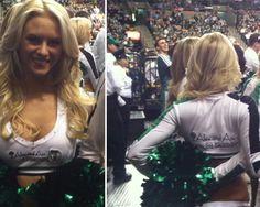 #BostonCeltics Cheerleaders sporting their new #PositiveEnergy uniforms!