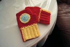 Iron Man Gloves Crochet Pattern This is a free pattern! It's requires intermediate skill and the pattern can be adjusted for anyone.