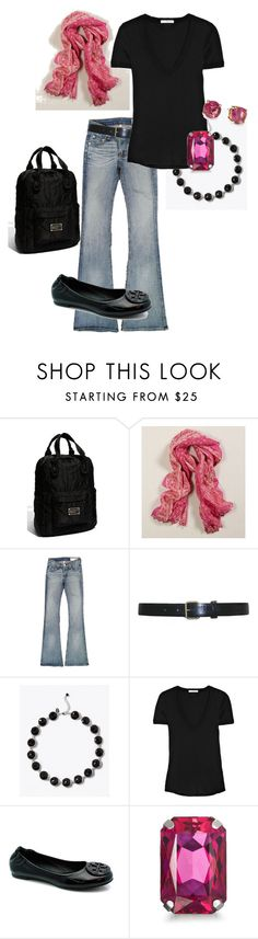 """""""black & pink"""" by stantau ❤ liked on Polyvore featuring Marc by Marc Jacobs, American Eagle Outfitters, rag & bone, Cynthia Rowley, White House Black Market, James Perse, Tory Burch, Frango, Kate Spade and women's clothing"""