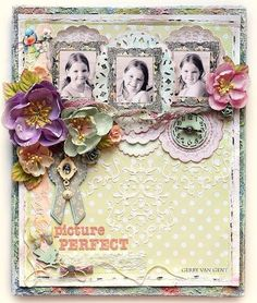 #papercraft #scrapbook #layout via Prima Picture Perfect {Divine}_Gerry