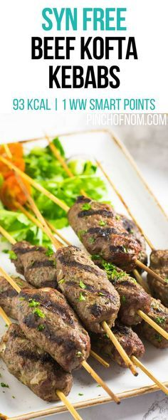 Syn Free Beef Kofta Kebabs | Pinch Of Nom Slimming World Recipes 93 kcal | Syn Free | 1 Weight Watchers Smart Points