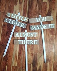 Wedding Directional Road Signs