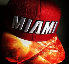 Miami Heat Authentic New Era Snapback or Fitted Cap with Heat Custom  Image-Modified Brim-Personaliz. Aaron Collins · badass hats 1e863b0f38f3