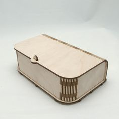 Laser Cut Wooden Box with living hinge. #lasercut #design #product #box #jewellery #storage