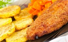 The tender texture of turkey encased in a crisp golden brown breading will make lunchtime a happy time for family and friends.