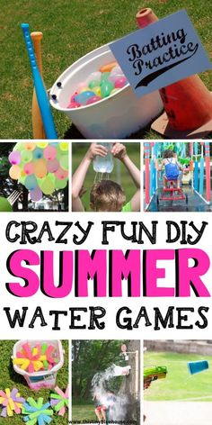 Here are 20 super fun DIY outdoor water games that are the perfect way to create hours and hours of backyard fun on the hottest summer days. fun games 20 Fun DIY Outdoor Water Games For Kids - This Tiny Blue House Outdoor Water Games, Water Games For Kids, Backyard Games For Kids, Backyard Ideas, Outdoor Games For Kids, Backyard Landscaping, Kids Water Party, Backyard Water Games, Outdoor Play