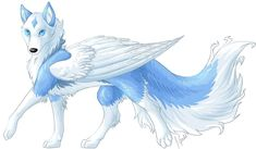 Wise Alpha Female Wolf anime | Anime Blue Wolf With Wings Wolf rp* - 16 members