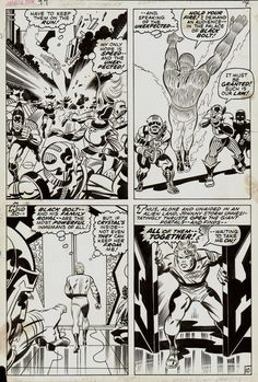 Jack Kirby and Joe Sinnott Fantastic Four #99 p 10 (1970)