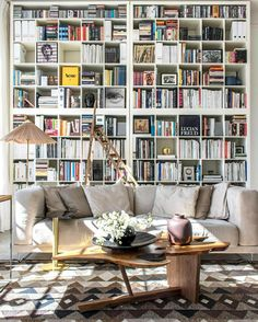 Trendy Home Library Room Ikea Ideas Home Library Decor, Home Library Design, Home Libraries, House Design, Home Decor, Library Ideas, Living Room Designs, Living Room Decor, Living Spaces