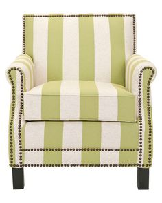 club chair with nailhead detail.
