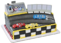 nascar birthday cakes race car for kids,custom race track cake