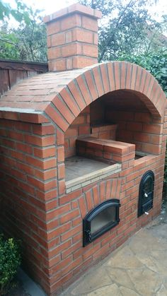 Brick Bbq Plans with Chimney . Brick Bbq Plans with Chimney . Diy Grill, Barbecue Grill, Grilling, Parrilla Exterior, Brick Bbq, Outdoor Projects, Outdoor Decor, Pizza Oven Outdoor, Built In Grill