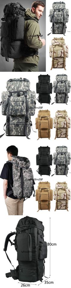 Day Packs 87122: 80L Large Internal Frame Backpack Camping Hiking Outdoor Sports Travel Bag Lkr8 -> BUY IT NOW ONLY: $31.3 on eBay!