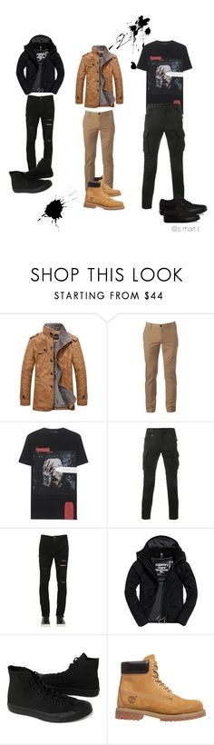 """No rules༄"" by stefymartinez96 ❤ liked on Polyvore featuring Urban Pipeline, Sophnet., Giorgio Brato, Superdry, Converse, Timberland, Vans, men's fashion and menswear"