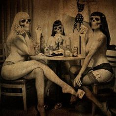 Death playing cards