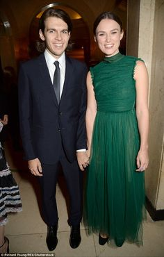 Happier than ever:Keira Knightley and her handsome husband James Righton appeared more loved up than ever as they hit the red carpet at the Harper's Bazaar Women of the Year Awards at London's plush Claridge's Hotel on Monday night