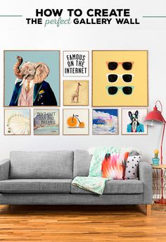 A unique gallery wall can be an easy and fun way to liven up white walls! These handcrafted collections are perfectly matched to give your space a visual pop.