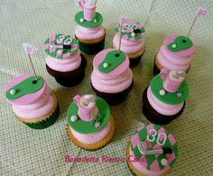 Splendid Golf Etiquettes You Should Know Ideas. Grand Golf Etiquettes You Should Know Ideas. Golf Cupcakes, Themed Cupcakes, Cupcake Cakes, Cupcake Ideas, Cup Cakes, Mini Cakes, Dessert Ideas, Chocolate Sponge Cake, Tasty Chocolate Cake