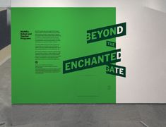 Beyond The Enchanted Gate - The Department of Advertising and Graphic Design Wayfinding Signage, Signage Design, Typography Design, Environmental Graphic Design, Environmental Graphics, Display Design, Booth Design, Wall Art Designs, Wall Design