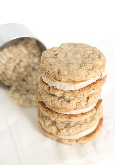 Oatmeal Maple Cream Pies. Find this and other wonderfully yummy cookie recipes from #cookieofthemonth bloggers at our website, Yumgoggle.com