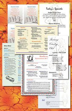 cómo hacer una carta de restaurante