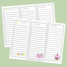 "Set of 3 Super Cute To Do Lists .... Follow for Free ""too-neat-not-to-keep"" teaching tools & other fun stuff :)"