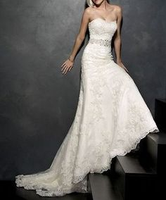 sweetheart bridal wedding lace wedding dress custom made Applique size 6-8-10-12-14 from etsy