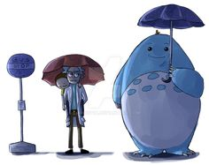 Rick and Morty Meeseeks Totoro Rick Und Morty, Rick Rolled, Wubba Lubba, Rick And Morty Poster, Get Schwifty, Cartoon Crossovers, Fanart, Cartoon Shows, Totoro