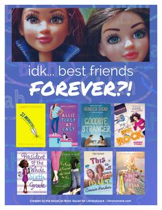 """Here's a great flyer from LibraryAware. Make this end cap flyer your own! You can easily make this your own by changing colors, text and swapping books. Search LibraryAware for """"friends"""" in the Books Flyer section."""
